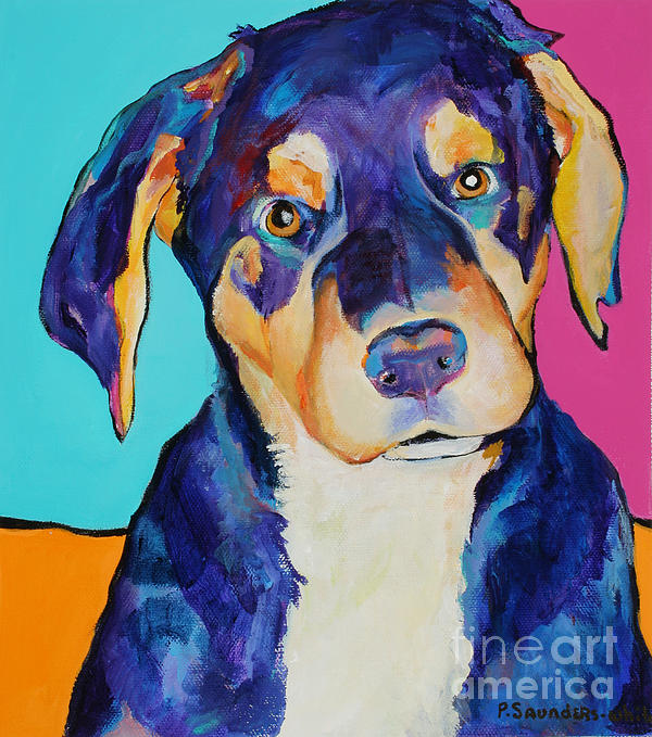 Dog Painting Painting - Boone by Pat Saunders-White