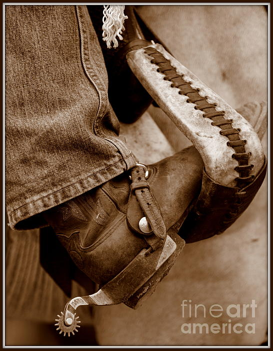 Horse Photograph - Boot N Stirup by Bill Keiran