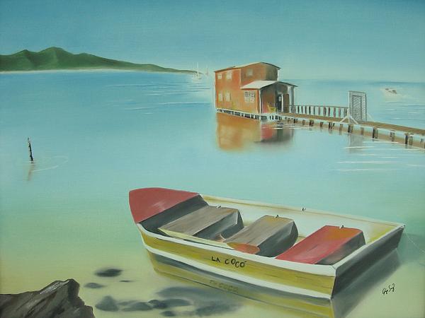 Beach Painting - Boqueron Beach by Angela Melendez