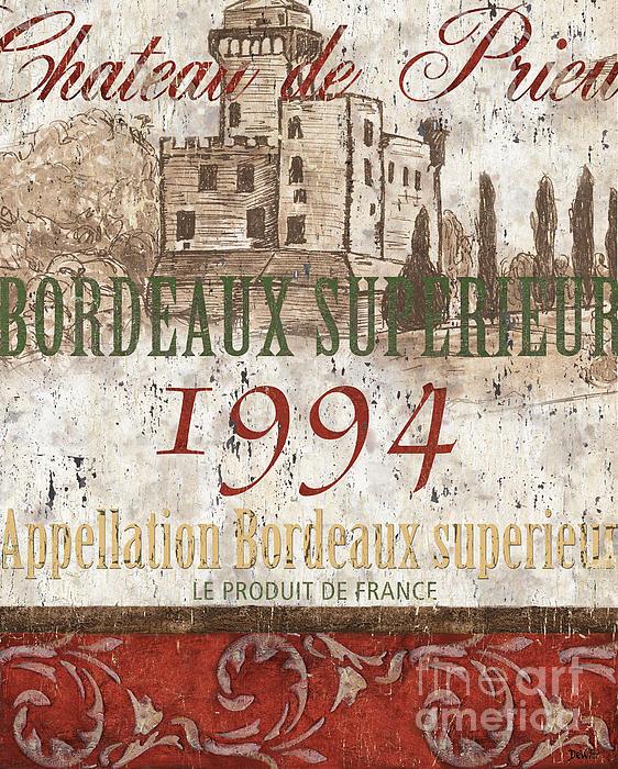 Wine Painting - Bordeaux Blanc Label 2 by Debbie DeWitt