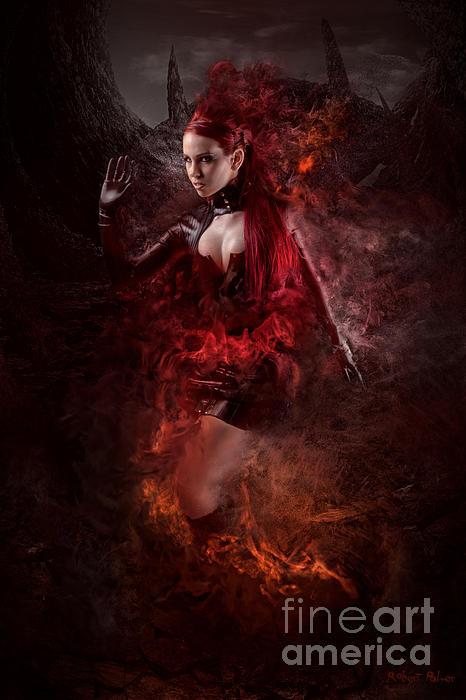 Dark Mixed Media - Born Of Fire by Robert Palmer