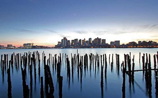 Boston Photograph - Boston Harbor Skyline With Ica by Juergen Roth