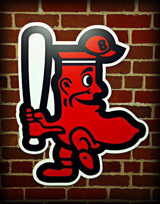 Boston Photograph - Boston Red Sox 1950s Logo by Stephen Stookey