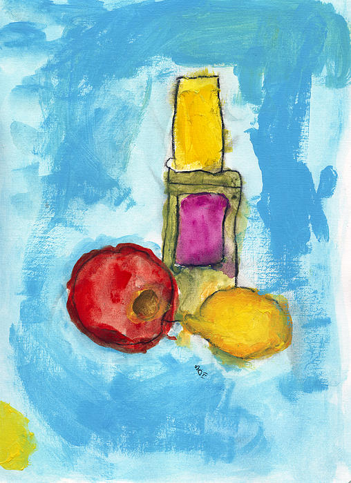 Abstract Photograph - Bottle Apple And Lemon by Skip Nall
