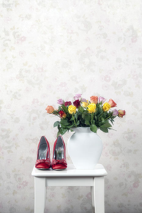 Shoe Photograph - Bouquet Of Roses by Joana Kruse