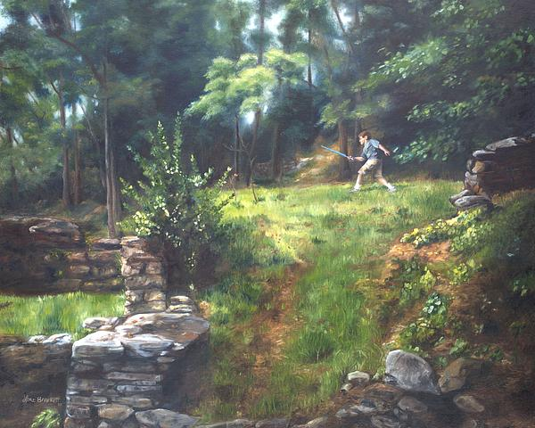 Pretend Painting - Bouts Of Fantasy by Lori Brackett