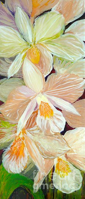 Orchids Painting - Boxed Orchids Detail by Anna Skaradzinska