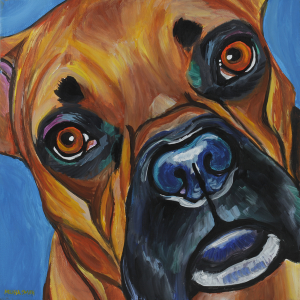 Boxer Painting - Boxer by Melissa Smith