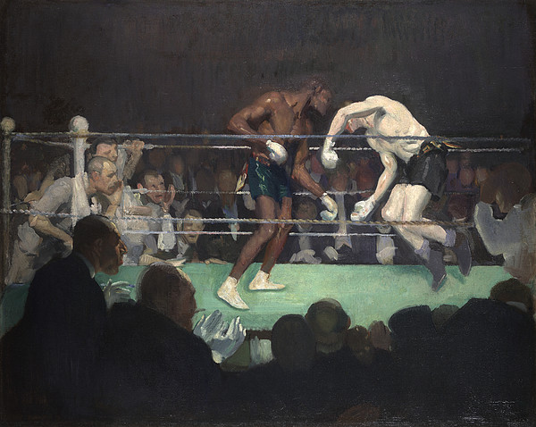 Ring Painting - Boxing Match, 1910 by George Luks