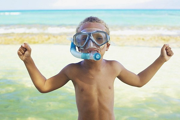 Activity Photograph - Boy With Snorkel by Kicka Witte
