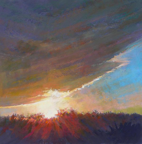 Sunrise Painting - Break Through by Ed Chesnovitch