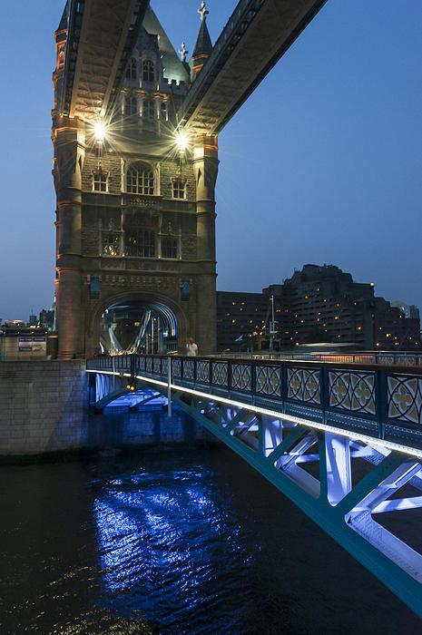 Active Photograph - Bridge At Night by Svetlana Sewell