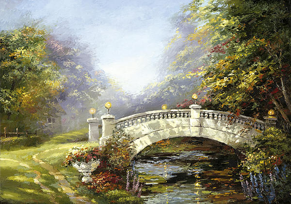 Active Painting - Bridge In The Park by Dmitry Spiros