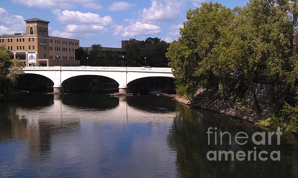 Indiana Photograph - Bridge Over The St. Joseph River  --  South Bend by Anna Lisa Yoder