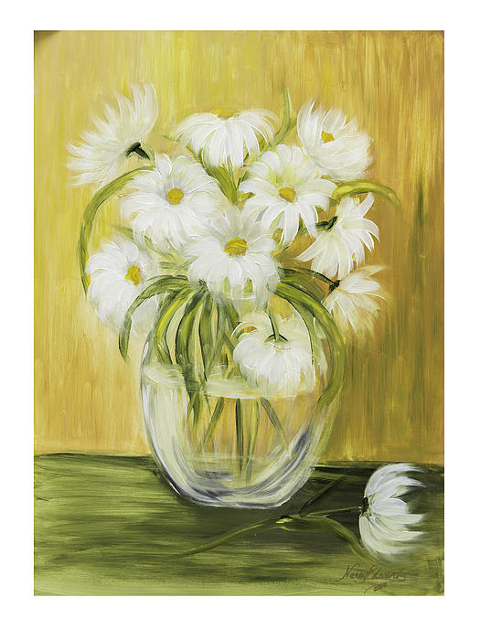 Flowers Painting - Bright And Sunny by Nancy Edwards