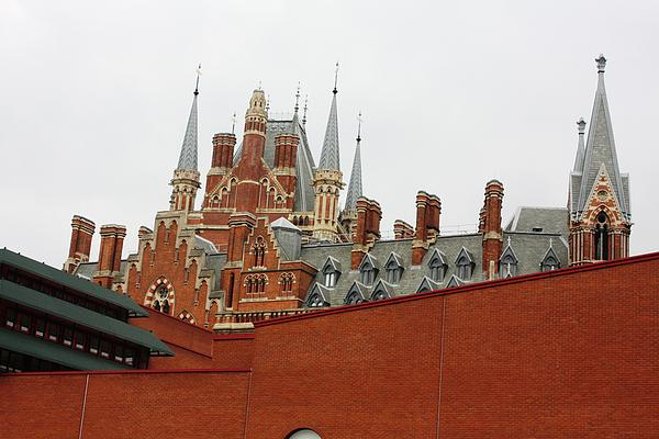 Uk Photograph - British Library And St. Pancras by Pat Purdy