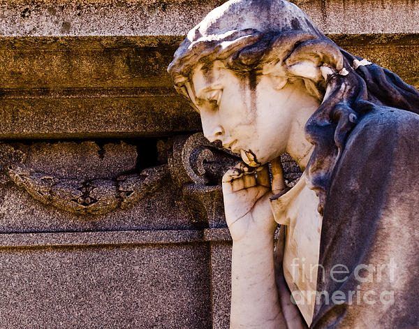 Cemetery Photograph - Broken Angel by Sonja Quintero