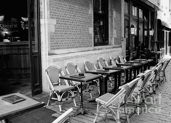 Brussels Photograph - Brussels Cafe In Black And White by Carol Groenen