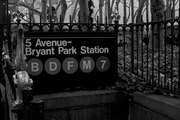 Building Photograph - Bryant Park Station by Mike Horvath