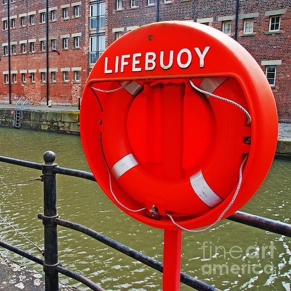 Safety Photograph - Buoy Foam Lifesaving Ring by Luis Alvarenga