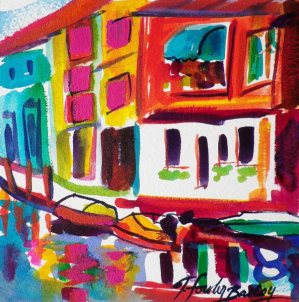 Burano Painting - Burano Italy Side Street Sold Original by Therese Fowler-Bailey
