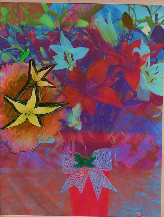Flowers Mixed Media - Bursting With Life by Anne-Elizabeth Whiteway