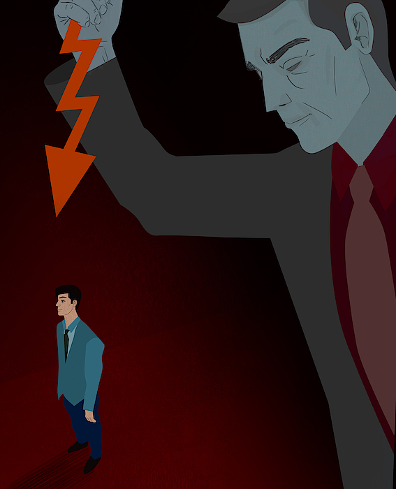 Businessman Being Stabbed In The Back Drawing by Fanatic Studio