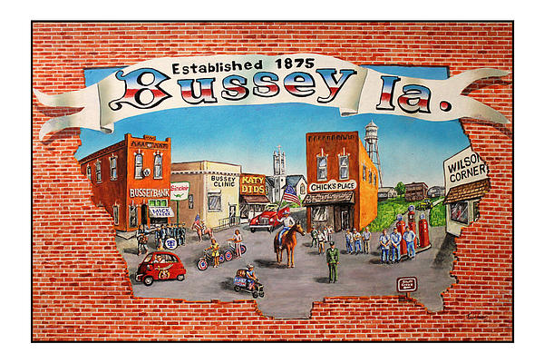 Bussey Painting - Bussey Mural by Todd Spaur