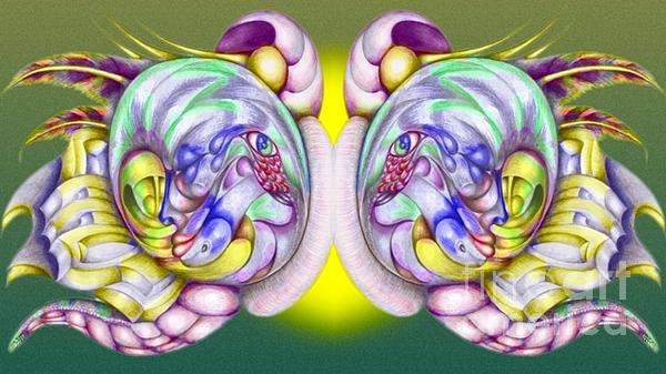 Drawing - Butter Fly03 by   Drew