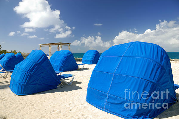 Bahamas Photograph - Cabanas On The Beach by Amy Cicconi