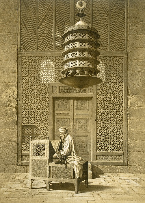 Islamic Painting - Cairo Funerary Or Sepuchral Mosque by Emile Prisse dAvennes