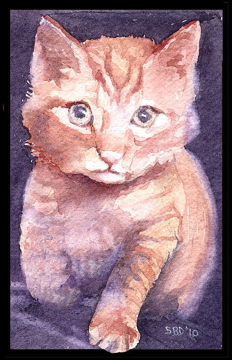 Cat Painting - Callies Cats by Sarah Buell  Dowling