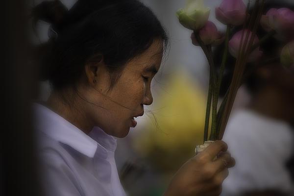 Southeast Asia Photograph - Cambodian Prayers by David Longstreath