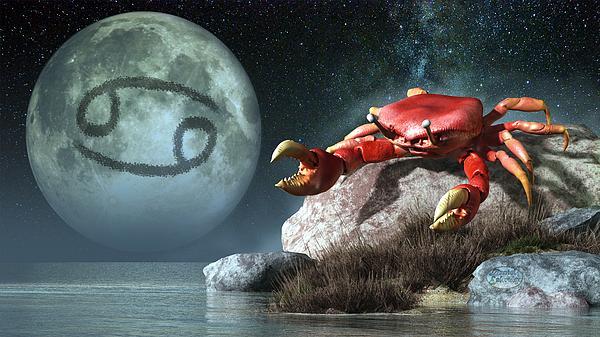 Cancer Digital Art - Cancer Zodiac Symbol by Daniel Eskridge