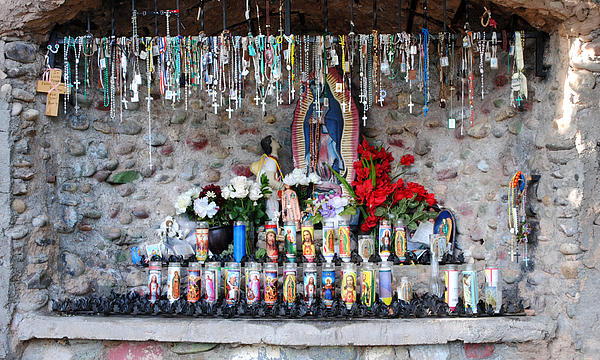 Altars Photograph - Candels And Rosaries by Carla P White