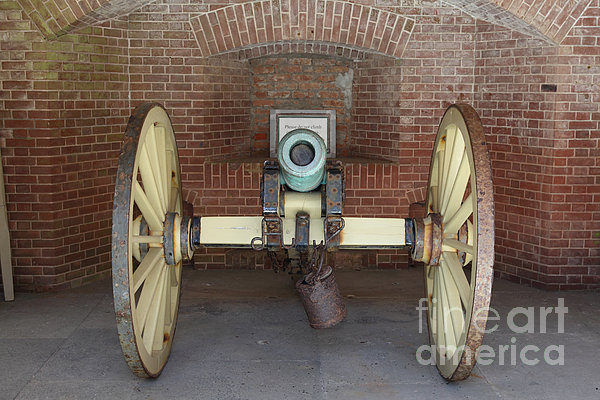 San Francisco Photograph - Cannon At San Francisco Fort Point 5d21490 by Wingsdomain Art and Photography
