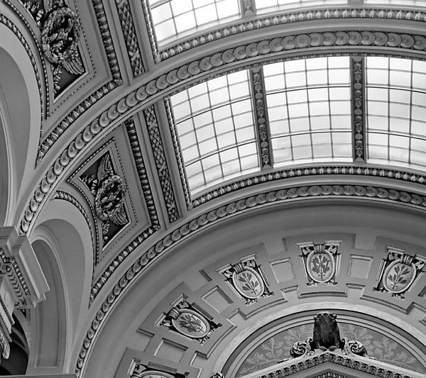 Wisconsin State Capitol Photograph - Capitol Architecture - Bw by Jenny Hudson