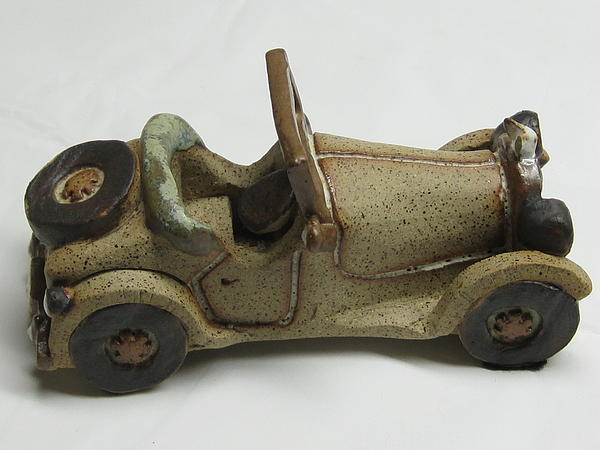 Car 01 Ceramic Art by Val Camilleri