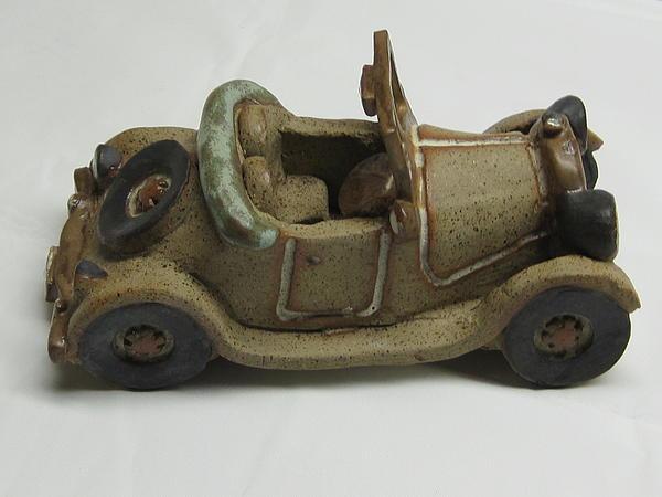 Car 03 Ceramic Art by Val Camilleri