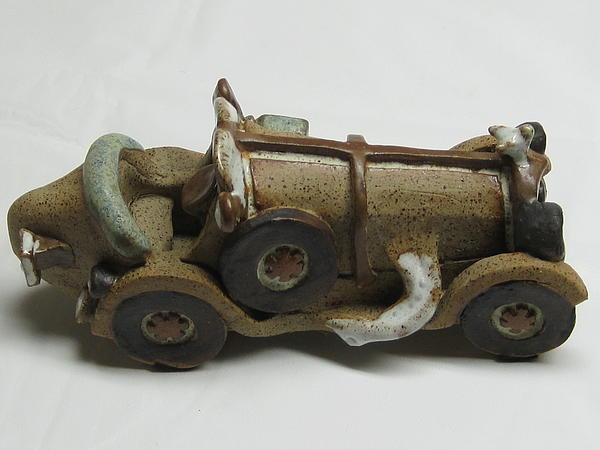 Car 04 Ceramic Art by Val Camilleri