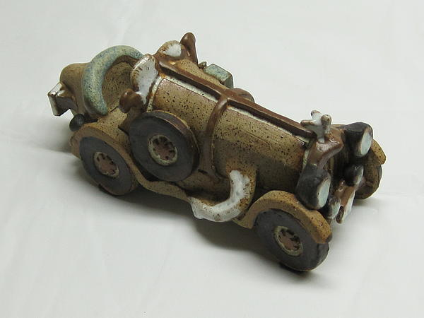 Car 05 Ceramic Art by Val Camilleri