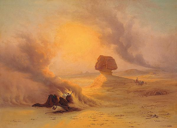 African sand paintings fine art america african sand painting caravan caught in the sinum wind near gizah by johann jakob frey sciox Image collections