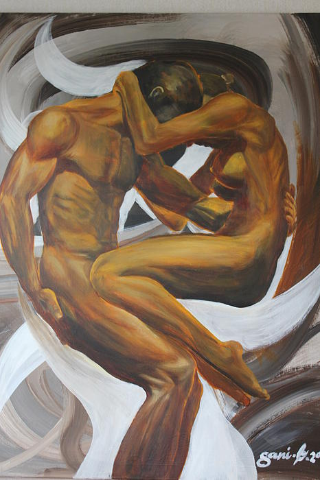 Nude Painting - Caress by Gani Banacia