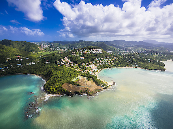 Caribbean, St. Lucia, Choc Bay, Aerial Photo Of Calabash Cove Resort Photograph by Westend61