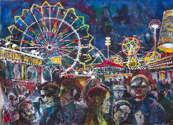 Ferris Wheel Painting - Carnival by Patricia Allingham Carlson