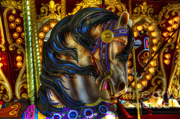 Carousel Photograph - Carousel Beauty Waiting For A Rider by Bob Christopher