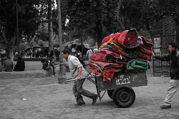 Old Photograph - Carpet Old Market by Ali ArtDesign