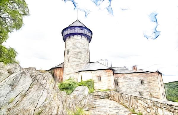 Architecture Digital Art - castle of the holy order - Sovinec castle by Michal Boubin