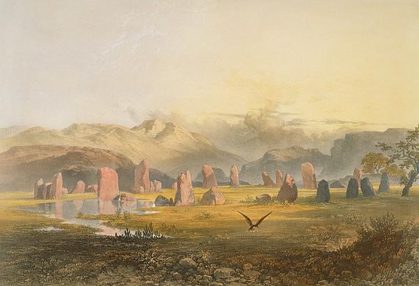 Print Drawing - Castlerigg Stone Circle Near Keswick by James Baker Pyne
