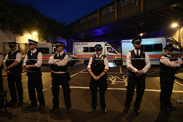 Casualties Reported After Van Strikes Worshippers Leaving Ramadan Prayers In London Photograph by Carl Court